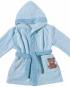 peingoir bleu coton bio pour bébé egeria