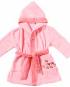 peingoir rose coton bio pour bébé egeria