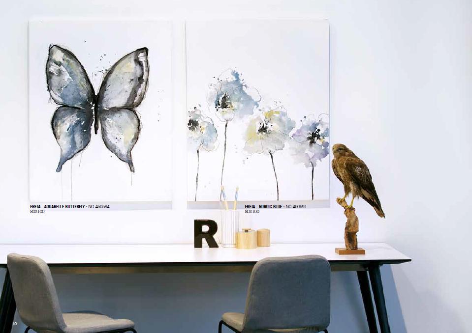 duo de peintures aquarel butterfly et nordic blue de Freja par Malerifabrikken