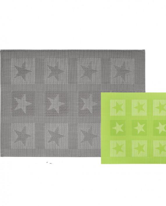 set de table stuco 9047 gris vert anis motif étoiles tendance 2016