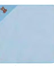 serviette à capuche bébé bleue joditex