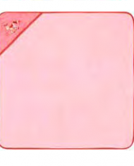 serviette à capuche bébé rose joditex