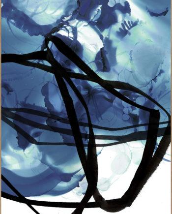 tableau bleu eau